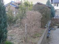 自宅菜園のフェンス施工