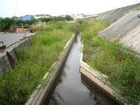 亀尾雨水幹線附帯工事施工前